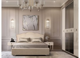 Спальня Лотос+Римини Соло (беж/серебро) СКИДКА -50%!