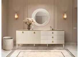 Комод Римини Соло для гостиной 2.0 (слоновая кость/золото)