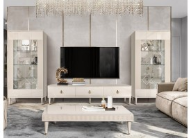 Гостиная ТВ Римини Соло 2+2 (беж/золото) СКИДКА -50%