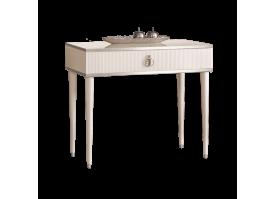 Туалетный стол Римини Соло узкий (слоновая кость/серебро)