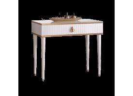 Туалетный стол Римини Соло узкий (белый/золото) СКИДКА -50%!