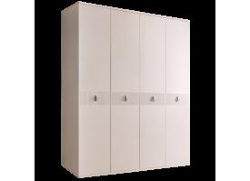 Шкаф 4-дв.Римини Соло без зеркал (беж/серебро)СКИДКА -50%