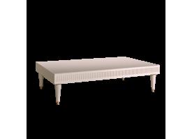 Журн.стол Римини Соло узкий (беж/серебро)