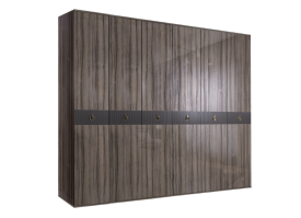Шкаф 6-дв.Римини Соло без зеркал (орех Империя/золото)