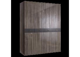 Шкаф 4-дв.Римини Соло без зеркал (орех Империя/золото)