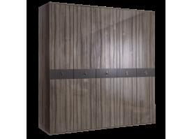 Шкаф 5-дв.Римини Соло без зеркал (орех Империя/золото)