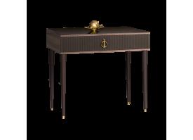 Туалетный стол Римини Соло узкий (орех Империя/золото)