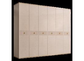Шкаф 6-дв.Римини Соло без зеркал (латте/золото)СКИДКА -50%