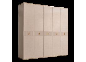 Шкаф 5-дв.Римини Соло без зеркал (латте/золото)СКИДКА -50%