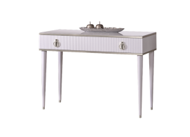 Туалетный стол Римини Соло (белый/серебро) СКИДКА -50%!