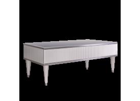 Журн.стол с ящиком Римини Соло (белый/серебро)