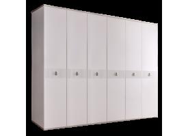 Шкаф 6-дв.Римини Соло без зеркал (белый/серебро)СКИДКА -50%