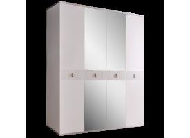 Шкаф 4-дв.Римини Соло (белый/серебро)СКИДКА -50%