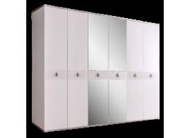 Шкаф 6-дв.Римини Соло (белый/серебро) СКИДКА -50%!