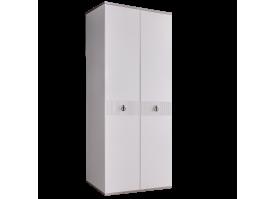 Шкаф 2-дв.Римини Соло (белый/серебро) СКИДКА -50%!