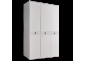 Шкаф 3-дв.Римини Соло без зеркал (белый/серебро)СКИДКА -50%