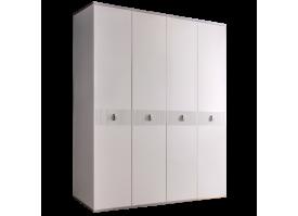 Шкаф 4-дв.Римини Соло без зеркал (белый/серебро)СКИДКА -50%