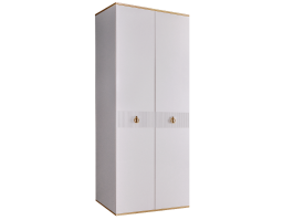 Шкаф 2-дв.Римини Соло (белый/золото) СКИДКА -50%!