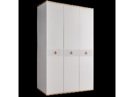 Шкаф 3-дв.Римини Соло без зеркал (белый/золото)СКИДКА -50%