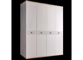 Шкаф 4-дв.Римини Соло без зеркал (белый/золото)СКИДКА -50%