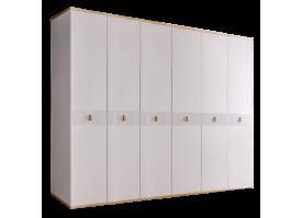 Шкаф 6-дв.Римини Соло без зеркал (белый/золото)СКИДКА -50%