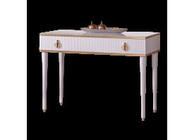 Туалетный стол Римини Соло (белый/золото) СКИДКА -50%!