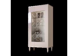 Витрина 2-дверная Римини (слоновая кость/серебро) СКИДКА -50%