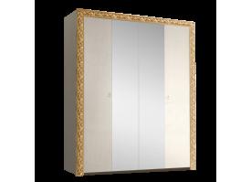 Шкаф 4-дверный Тиффани премиум золото с зеркалами