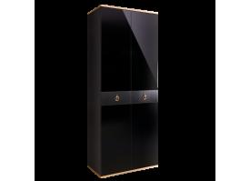 Шкаф 2-дв.Римини Соло (черный/золото) СКИДКА -50%!