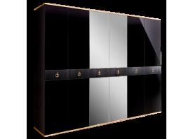 Шкаф 6-дв.Римини Соло (Черный/золото) СКИДКА -50%!