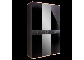 Шкаф 3-дв.Римини Соло (черный/золото) СКИДКА -50%!