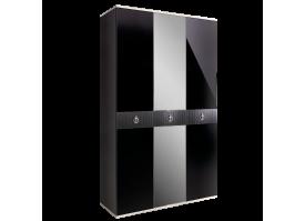 Шкаф 3-дв.Римини Соло (черный/серебро) СКИДКА -50%!