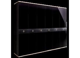 Шкаф 6-дв.Римини Соло без зеркал (Черный/серебро)СКИДКА -50%