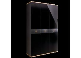 Шкаф 3-дв.Римини Соло без зеркал (черный/золото)СКИДКА -50%