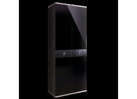 Шкаф 2-дв.Римини Соло (черный/серебро) СКИДКА -50%!