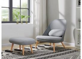 Кресло RX-12W GREY + банкетка RX-T GREY HE512-10