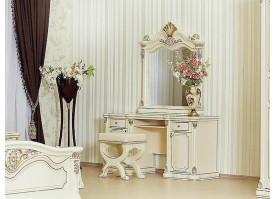 """Туалетный столик с зеркалом Меланж крем """"Арида мебель"""""""