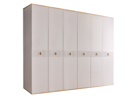 Шкаф 6-дв.Римини Соло без зеркал (слон.кость/золото)СКИДКА -50%