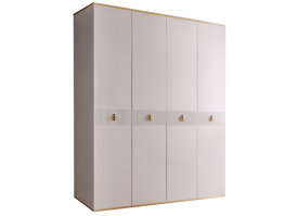 Шкаф 4-дв.Римини Соло без зеркал (слон.кость/золото)СКИДКА -50%