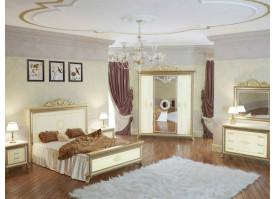 Спальня Версаль беж с твердым изголовьем