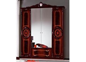 Шкаф Роза могано 4-дверный (Диа мебель)