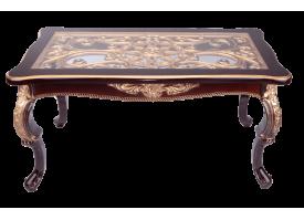 Стол журнальный Версаль орех прямоугольный/стекло