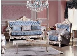 Мягкая мебель Розалина бежевая/лазурь
