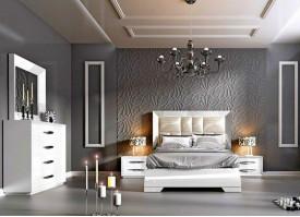 Кровать в спальню Franco Carmen Walnut White