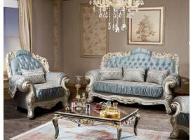 Мягкая мебель Севилья бежевая/лазурь
