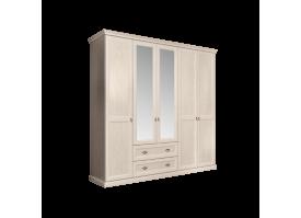 Шкаф 5-дверный Венеция беж (с зеркалами,с ящиками)