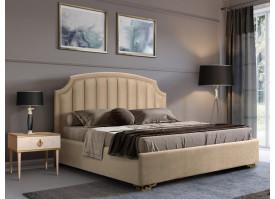 Кровать Верона Verona/ножки золото (ткань беж 01) СКИДКА -50%!