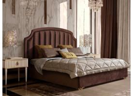 Кровать Верона Verona/ножки золото (ткань коричневая 03) СКИДКА -50%!