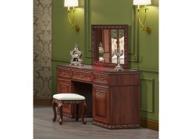Туалетный столик с зеркалом Берта орех/ Арида мебель