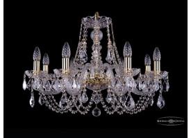 Люстра большая Bohemia Ivele Crystal 1406/8/240/G/Leafs